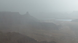 Dead Horse Point, overlooking the Colorado River in a desert Thunderstorm!