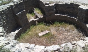 A Kiva - A circular pit in which ceremonies were conducted