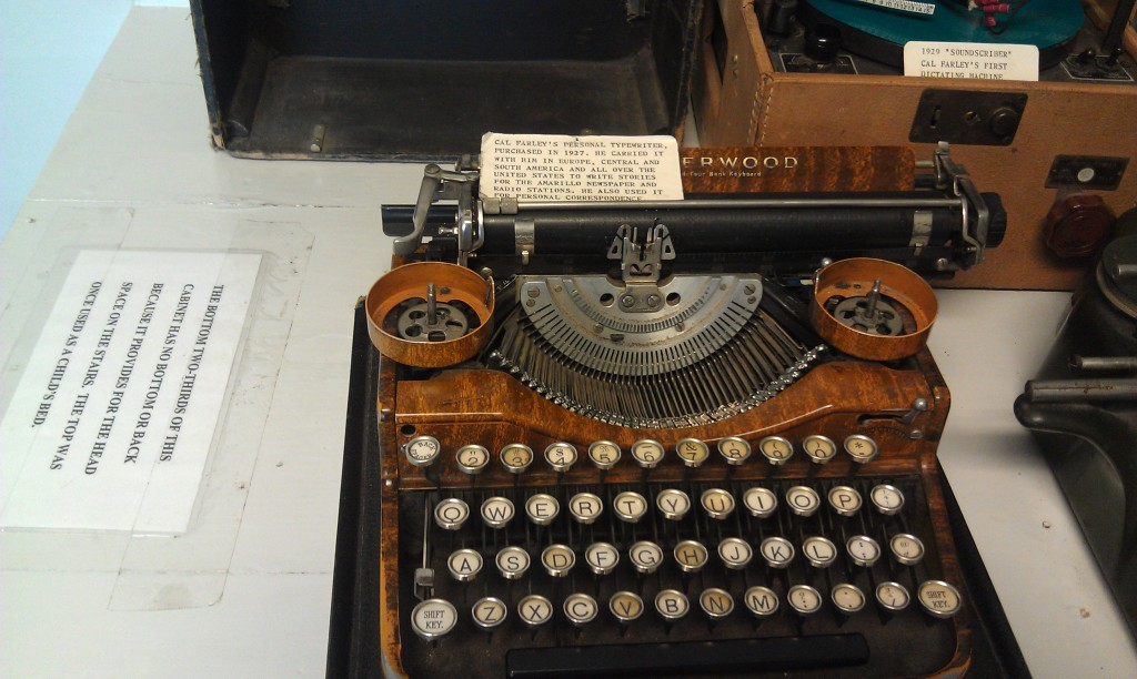 Cal Farley's typewriter 1920's