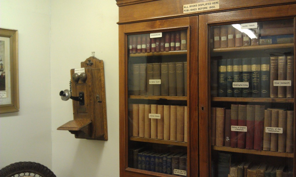 old books inside the library