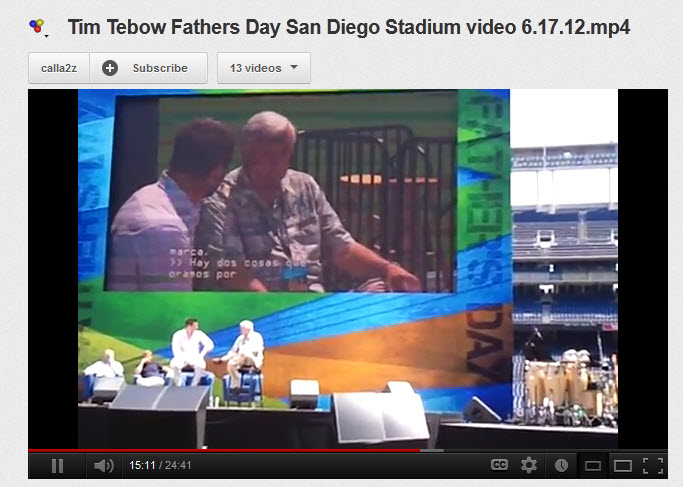Tim Tebow - Inspiring Fathers Day Message