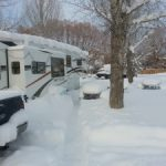 Winter in an RV in the Rocky Mountains